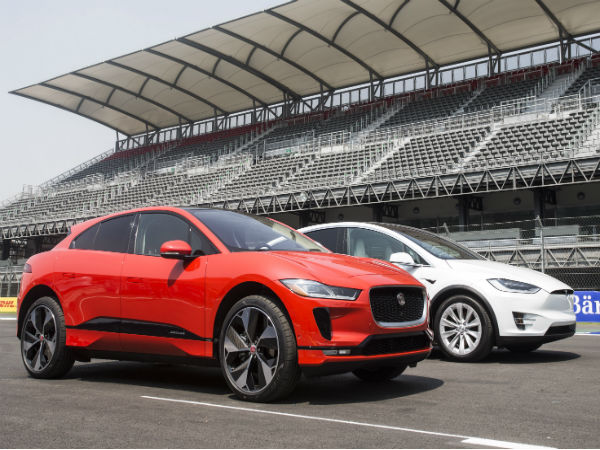 Watch as the new Jaguar I-PACE goes head-to-head with the Tesla Model X