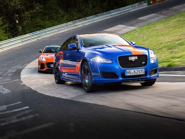 Jaguar provides fast taxi service around the Nürburgring Nordschleife