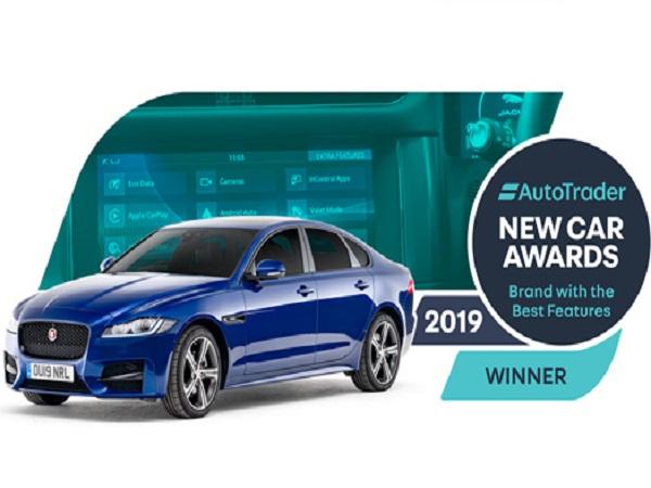 Jaguar's in-car tech wins Auto Trader's Best Features award