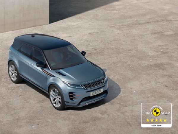 New Evoque gives a five-star performance in the European safety tests
