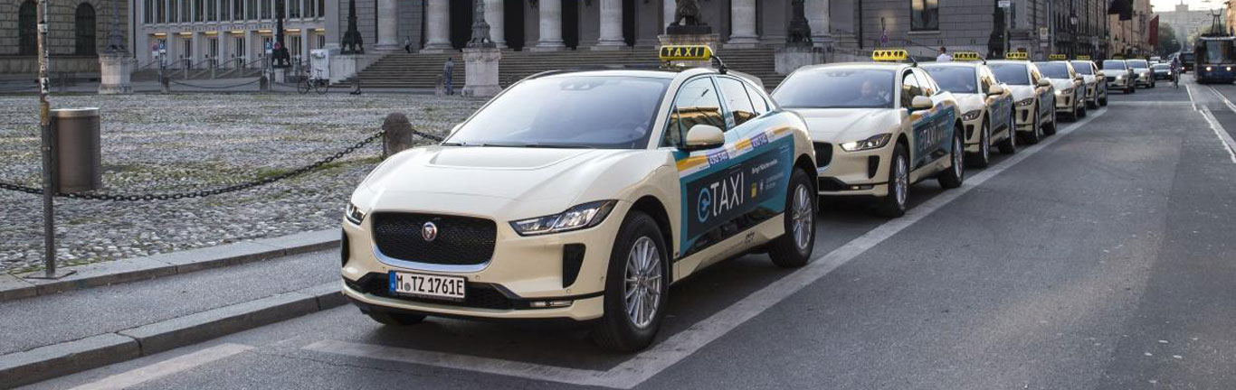 Munich Taxi Centre becomes the first firm to run a fleet of Jaguar I-PACEs