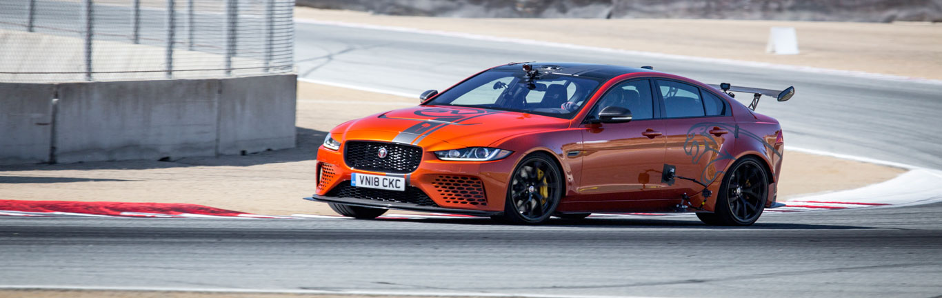 Supercar-rivalling XE SV Project 8 blitzes the Laguna Seca four-door lap record