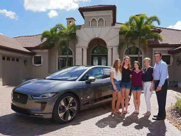 Florida family become first I-PACE customers in North America